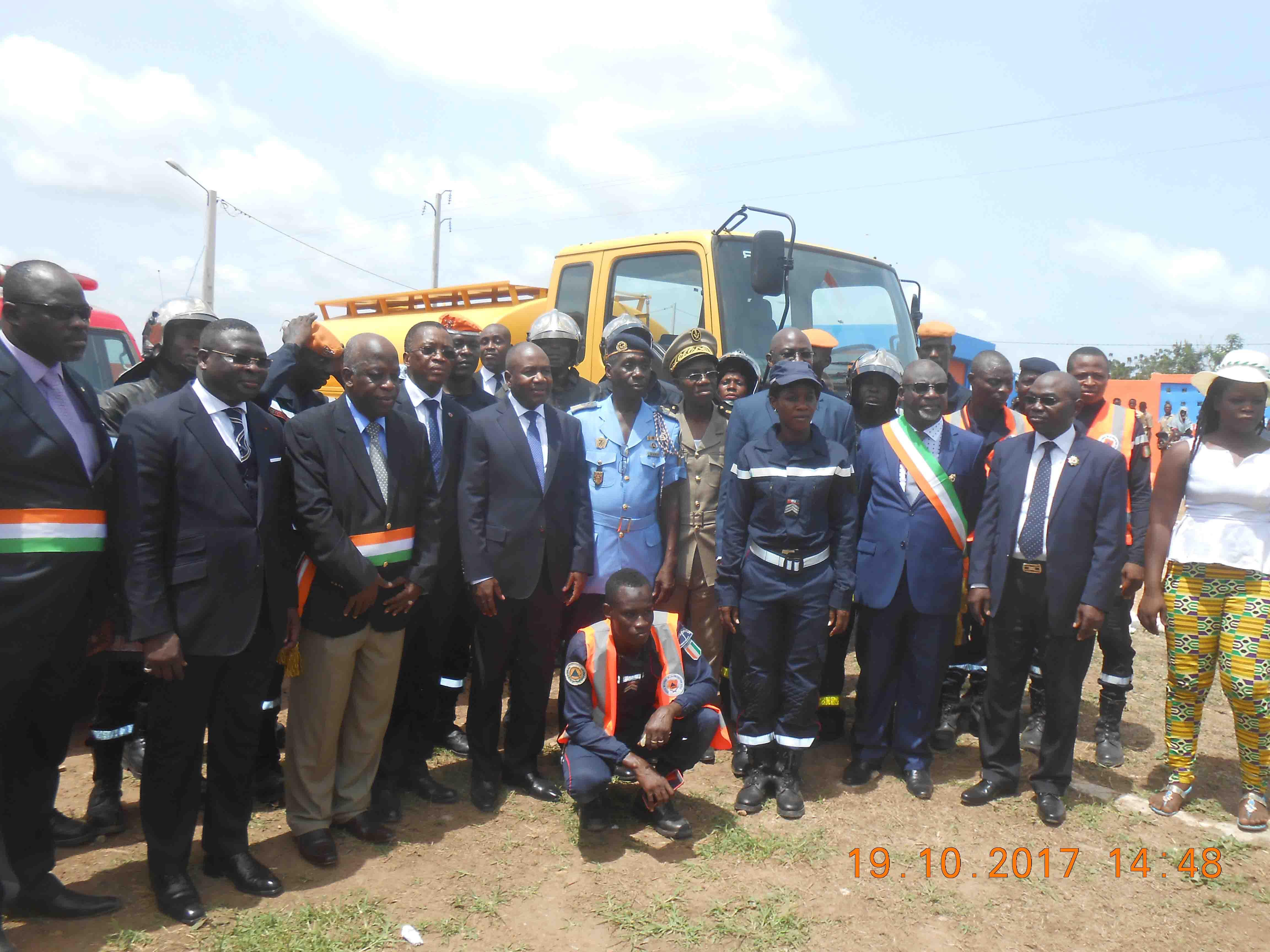 Inauguration du Centre de secours d'urgence de la Marahoué